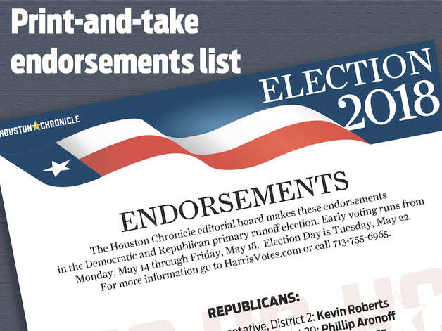 Endorsements  See who our editorial board recommends for office Photo: 2018VotersGuideElectionHQ