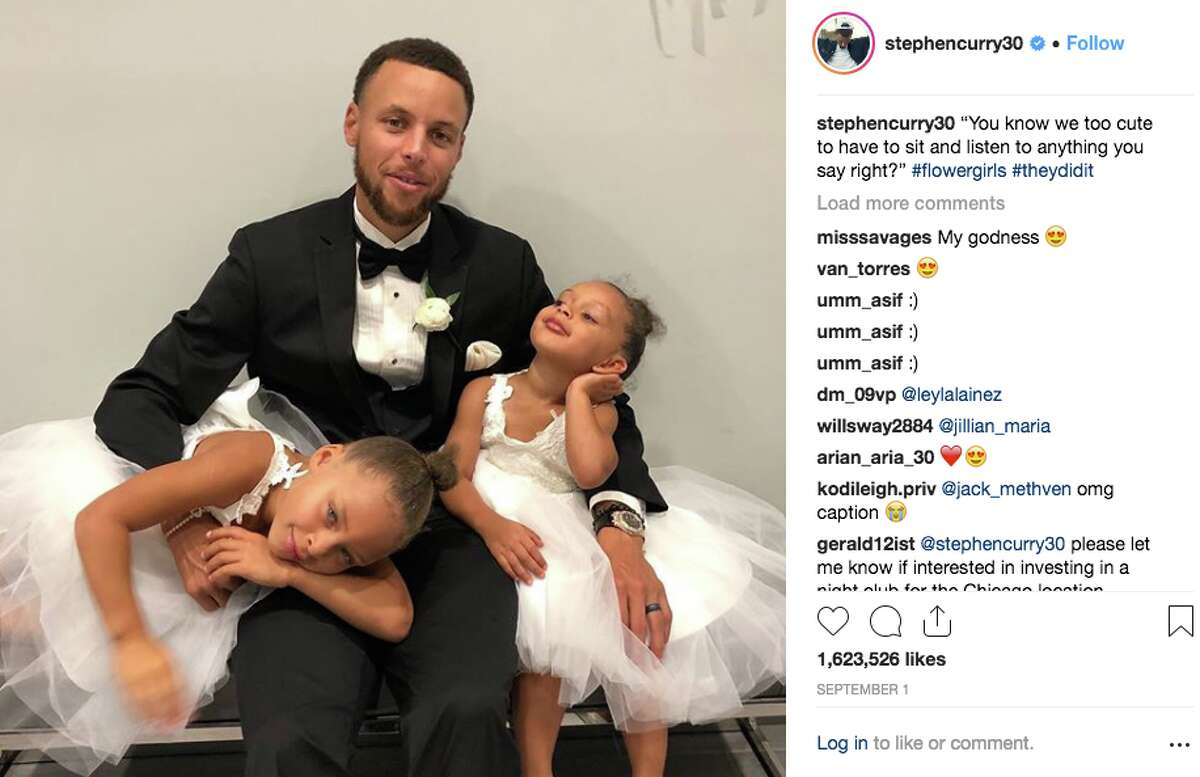 In attendance, of course, was the entire Curry family. Stephen and Ayesha's daughters, Riley and Ryan, served as flower girls for the occasion.