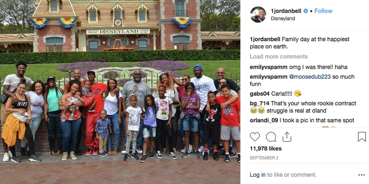 Jordan Bell made the most of his rookie contract and took the entire family to visit Disneyland. Now that's a good son/brother/cousin/nephew/etc.