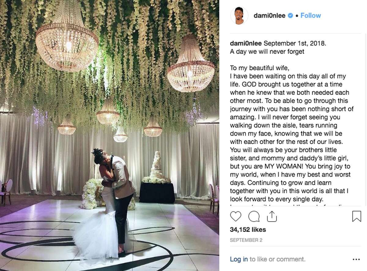 Damion Lee joined the Warriors family on another level with his September nuptials to Sydel Curry, sister of Stephen. The pair wed after about two years of dating.