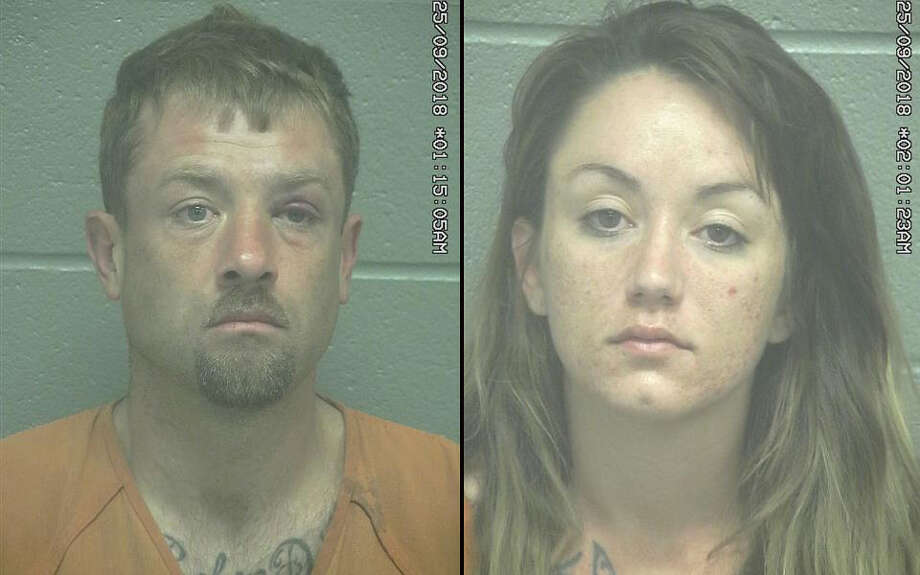 Ryan Thomas Swann, 35, and Marielaine AnneCorralz, 31,were arrested last month after their alleged involvement in a residential burglary, according to court documents. Photo: Midland County Sheriff's Office