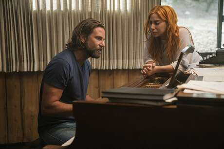 """Bradley Cooper (left) and Lady Gaga in a scene from 2018's """"A Star is Born."""" Photo: Clay Enos / Associated Press"""