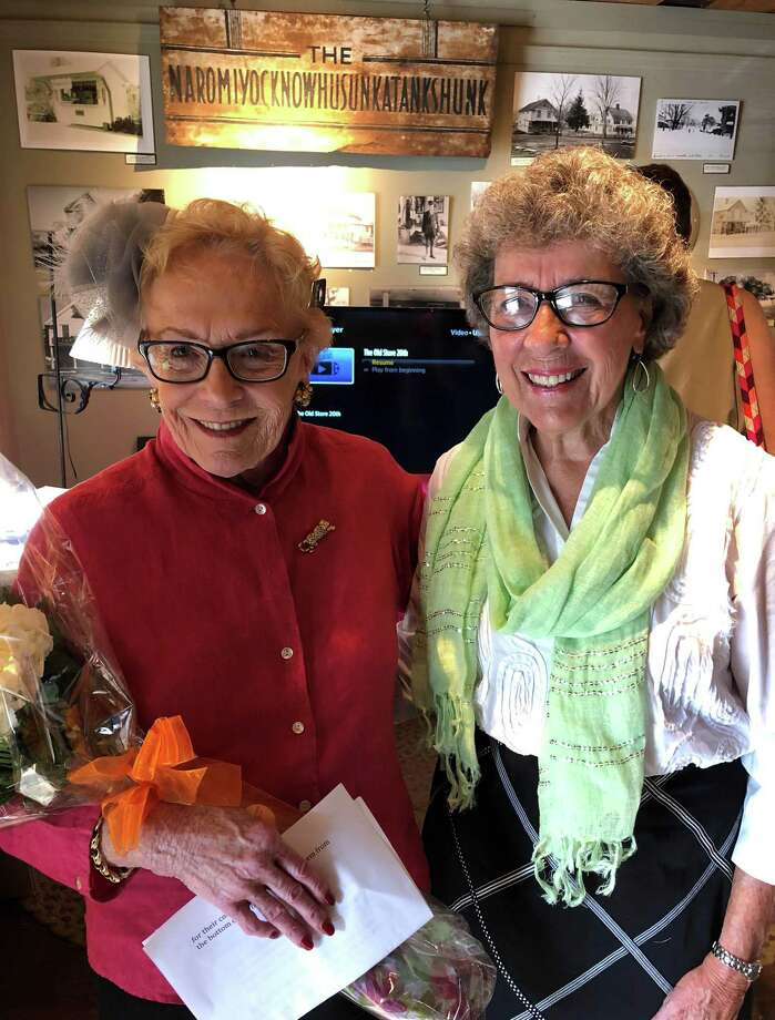 The Old Store Museum and Gift Shop in Sherman recently celebrated its 20th anniversary. Above are Moira Kelly, co-manager of the store, left, and Gloria Thorne, past president of the Sherman Historical Society. Photo: Courtesy Of The Old Store / The News-Times Contributed