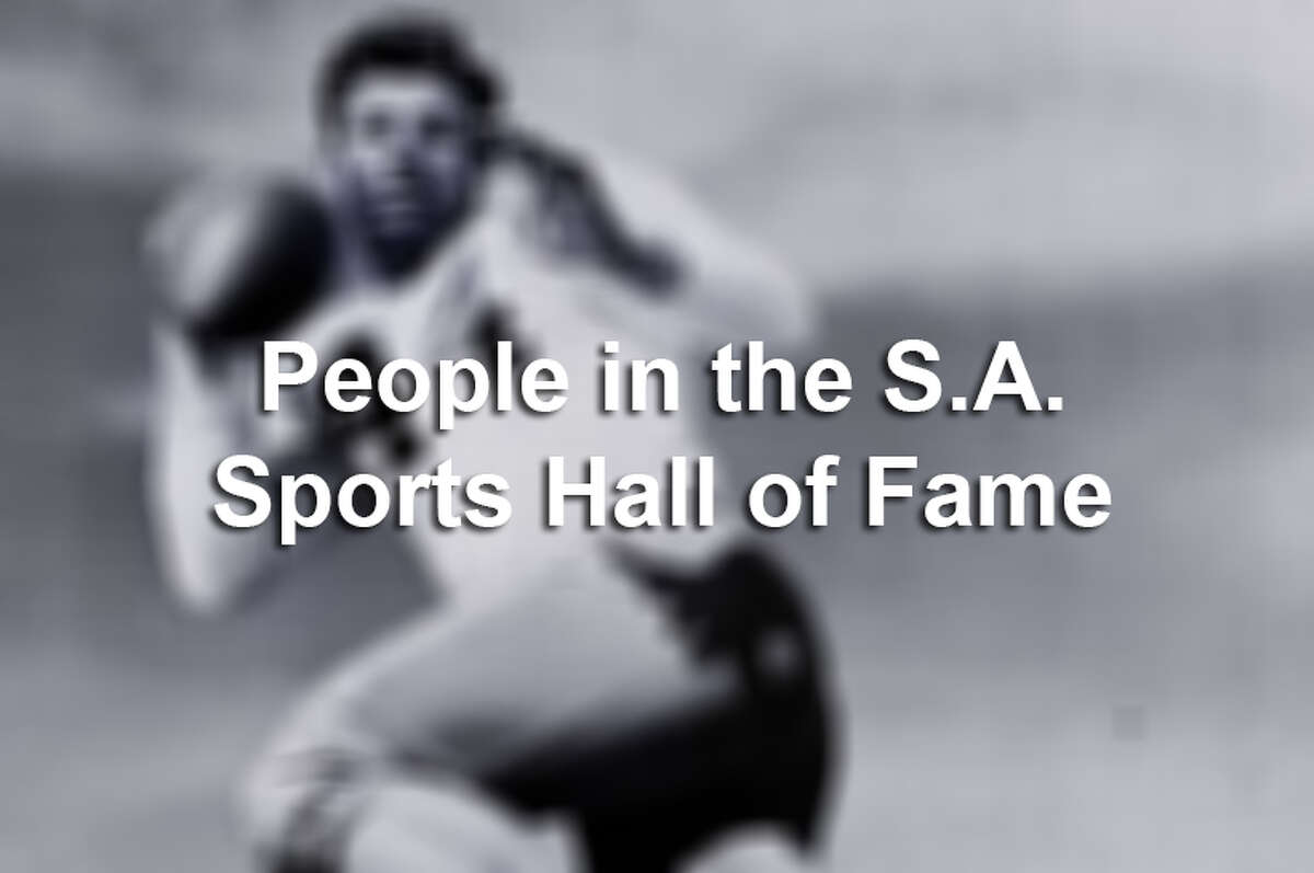 Members of the San Antonio Sports Hall of Fame.