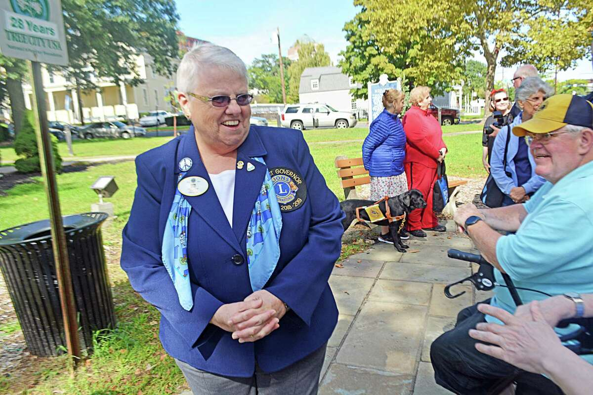 The Middletown Lions Club dedicated a bench at the South Green for longtime member Marty Knight, who is sight impaired. For years he has been an advocate for the blind, and helped institute audible crossing signs downtown, among other achievements.