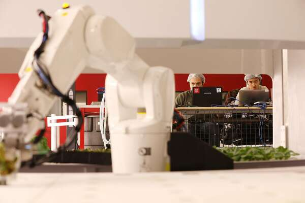 U S 's first robotic farm opens in the Bay Area - SFChronicle com