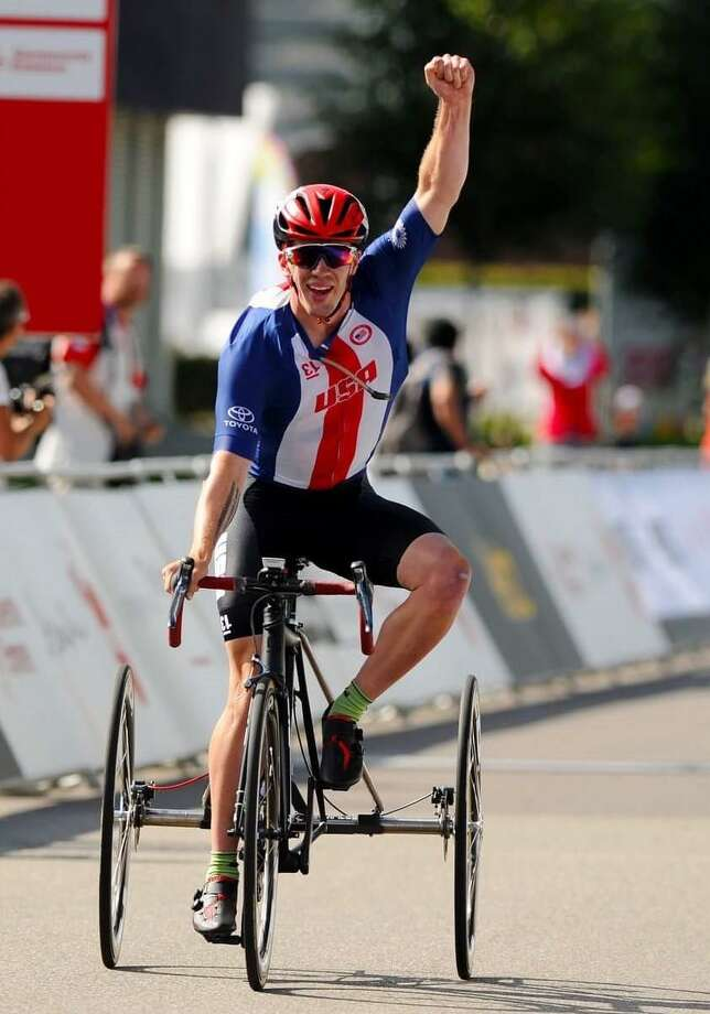 The Fairfield County Sports Commission announced on Tuesday, Oct. 2 that Monroe native Ryan Boyle is the 2018 Chelsea Cohen Courage Award recipient. Boyle suffered a traumatic brain injury when he was 9-years-old and his relentless push to recovery earned him a silver medal as a Para-cyclist riding a trike in the 2016 Rio Paralympics and two world championship titles in 2018. Photo: Contributed Photo / Contributed Photo / Greenwich Time Contributed
