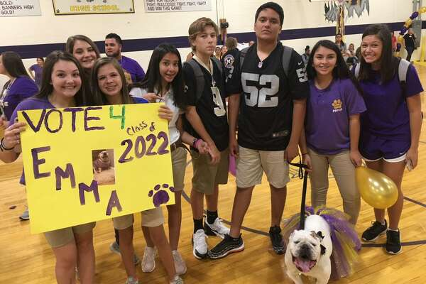 Each year, Midland Freshman High School students select their mascot. Pictured here is contestant Emma.