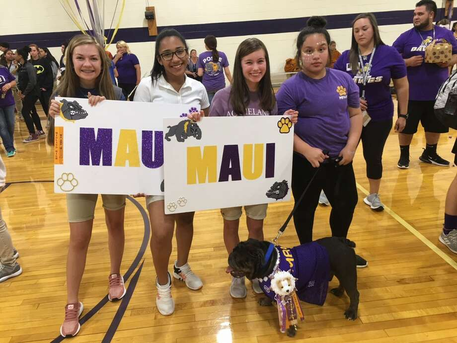 Maui was the winner in the Bulldog Beauty Contest for the Class of 2022. Each year, Midland Freshman High School students select their mascot. Photo: Courtesy Photo