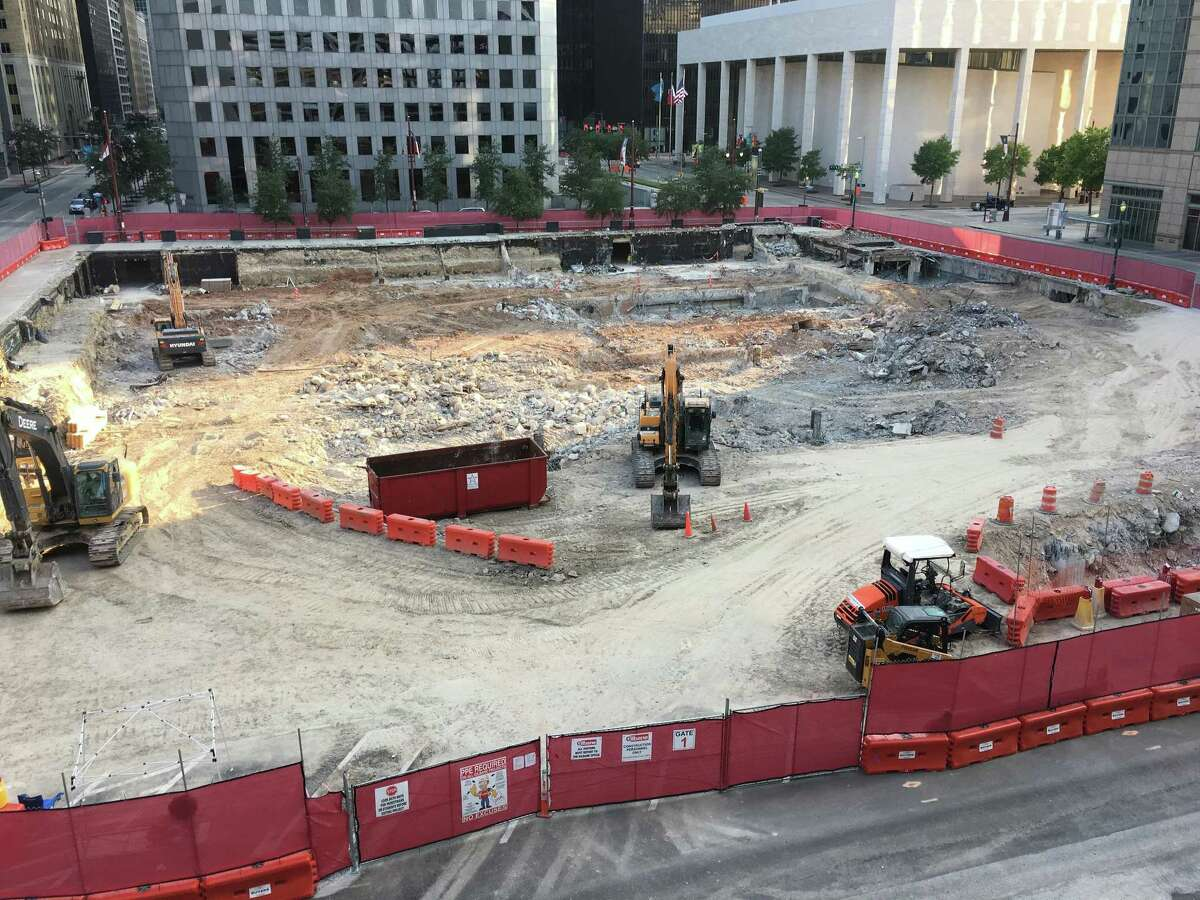 Hines is building an office tower on downtown's former Houston Chronicle building site.