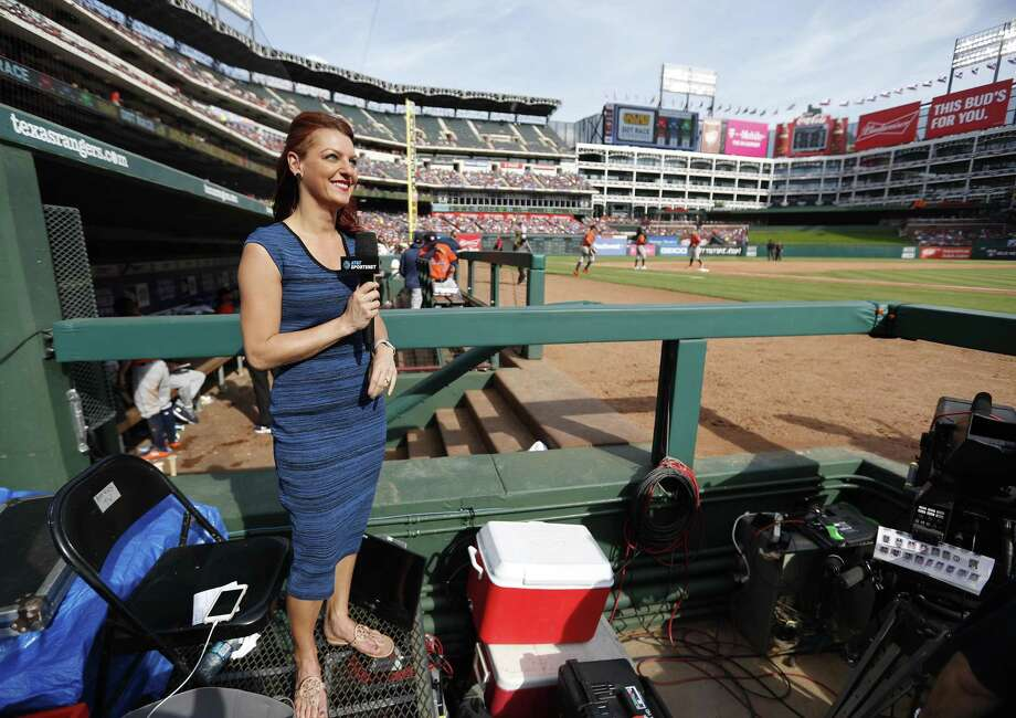 Julia Morales, Astros' field reporter and host for AT&T SportsNet, will serve as emcee for the In The Pink Luncheon this year. Photo: Karen Warren, Staff / Houston Chronicle / © 2018 Houston Chronicle