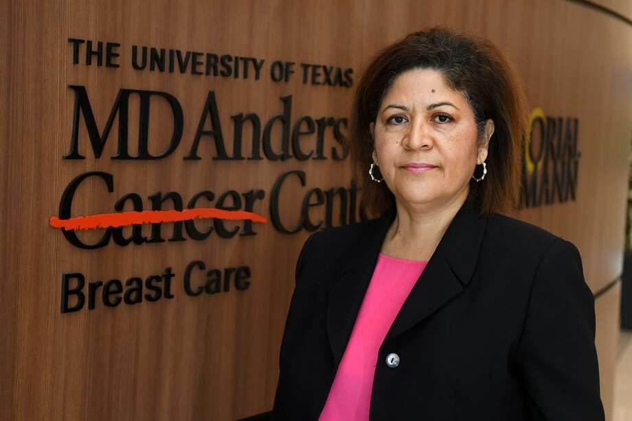 Cecilia Argueta, of Cypress, is a breast cancer patient at The University of Texas MD Anderson Memorial Hermann Cancer Center. Photo: Jerry Baker, Contributor / Houston Chronicle / Houston Chronicle