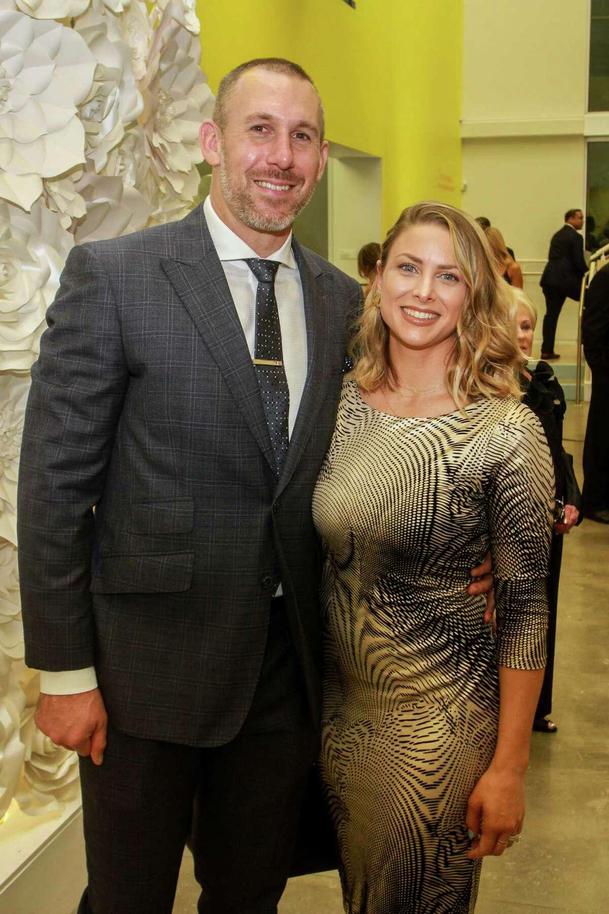 Angela and Owen Daniels at the Homemade Hope gala.