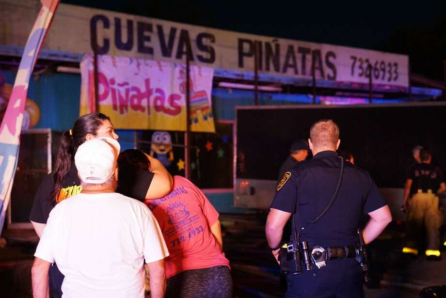 A fire ripped through parts of a West Side piñata store Tuesday, Oct. 2, 2018. Photo: Jacob Beltran