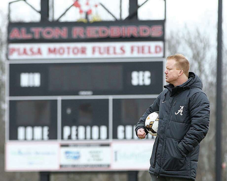 Jeff Hayes has stepped down as head coach of the girls soccer team at Alton High School. In his three seasons as coach, the Redbirds were 33-19, including 10-7-1 last spring, when they came within an eyelash of winning their first Southwestern Conference girls soccer title. Photo: Telegraph Photo