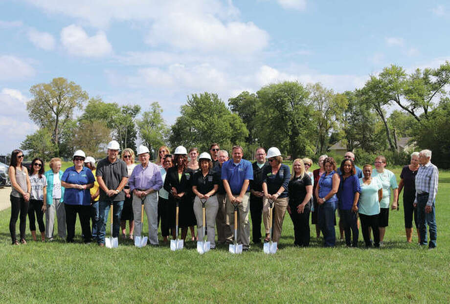 The groundbreaking ceremony for Aspen Creek Memory Care. Photo: For The Intelligencer