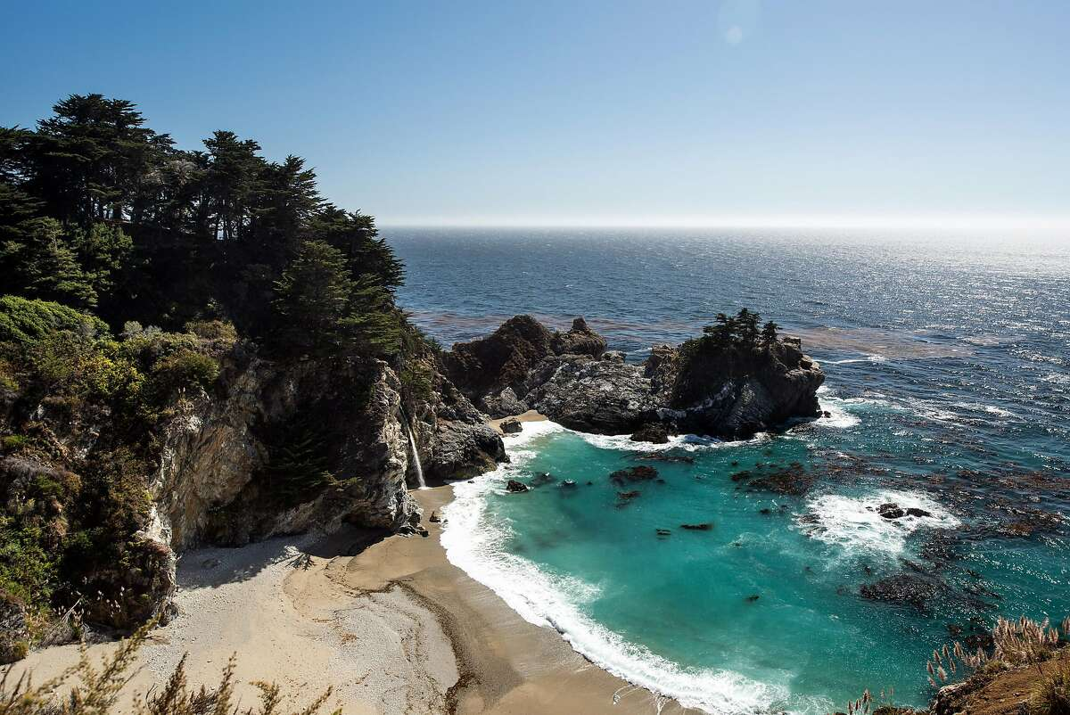 McWay Falls is one of many scenic spots along Highway 1 near Big Sur, Calif., Sept. 13, 2018. The road stretches 659 miles from north of Sacramento to almost San Diego. (Drew Kelly/The New York Times)