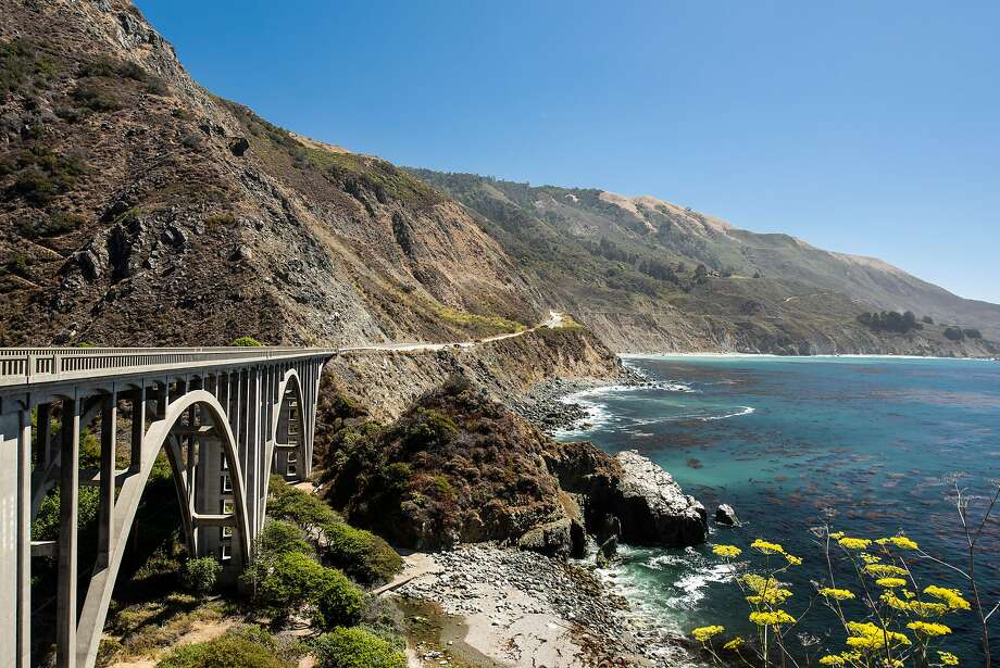 Bixby Bridge on Highway 1 is a highlight of the drive along the Pacific coast near Big Sur, Calif. The area attracts throngs of selfie-takers- and more recently protesters worried about overtourism Photo: DREW KELLY, NYT
