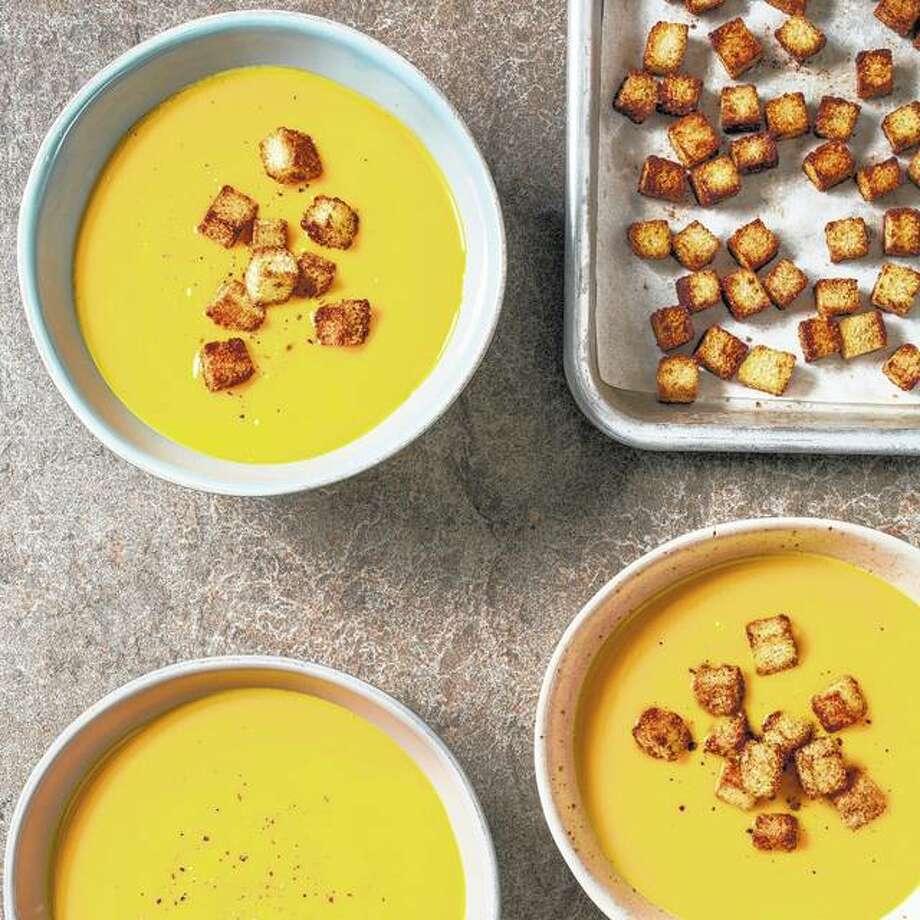 Creamy butternut squash soup has few ingredients but maximum flavor. Photo: Carl Tremblay | America's Test Kitchen Via AP