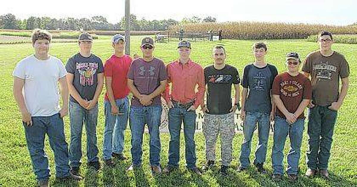 Griggsville Perry High School participants were Dalton Shoemaker (from left), Avery Bradshaw, Sage Martin, Lane Spencer, Matthew Myers, Jason Crane, Kaleb Snyder, Tyler Dejaynes and Chris Clayton.