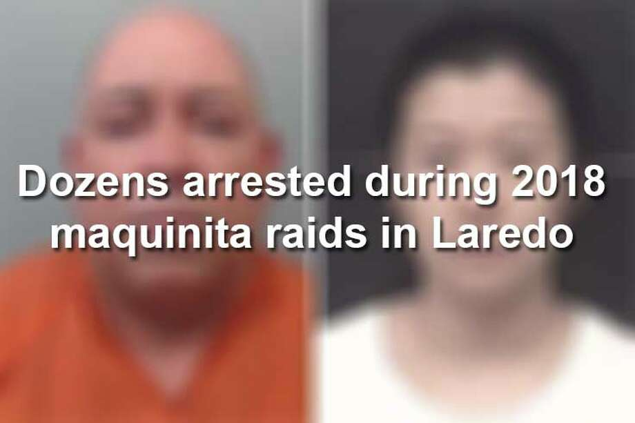 Keep scrolling to see individuals arrested during maquinita raids in 2018. Photo: Webb County Sheriff's Office, Laredo Police Department