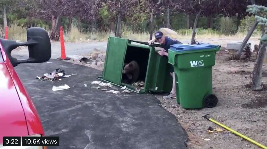 """Truckee Meadows Fire Protection shared a video of the cute moment on Twitter and wrote, """"You don't see this often."""" Photo: Truckee Meadows Fire Protection"""