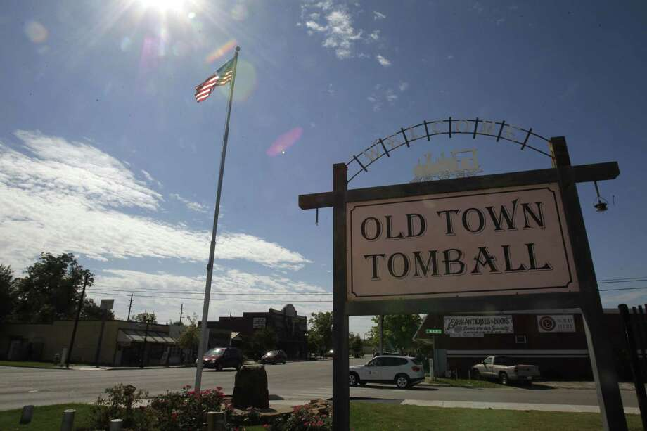 An Old Main Tomball sign is shown Thursday, Oct. 23, 2014, in Tomball. Photo: Melissa Phillip, Staff / Houston Chronicle / © 2014  Houston Chronicle