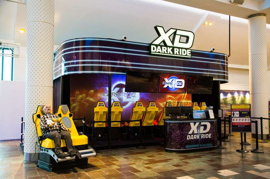 The XD Dark Ride at Foxwoods, with zombie at left. Photo: Foxwoods / Contributed Photo / ©Amelia Ingraham 2018