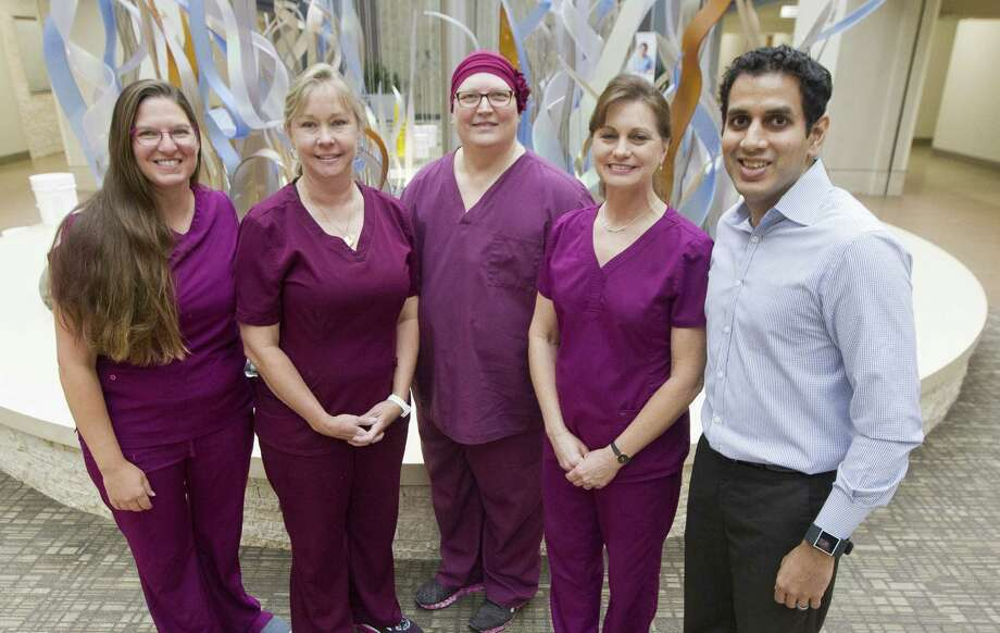 Kim Hoak, second from left, is seen alongside other members of the women's imaging team at Conroe Regional Medical Center on Friday, Sept. 14, 2018, in Conroe. Photo: Jason Fochtman, Houston Chronicle / Staff Photographer / © 2018 Houston Chronicle