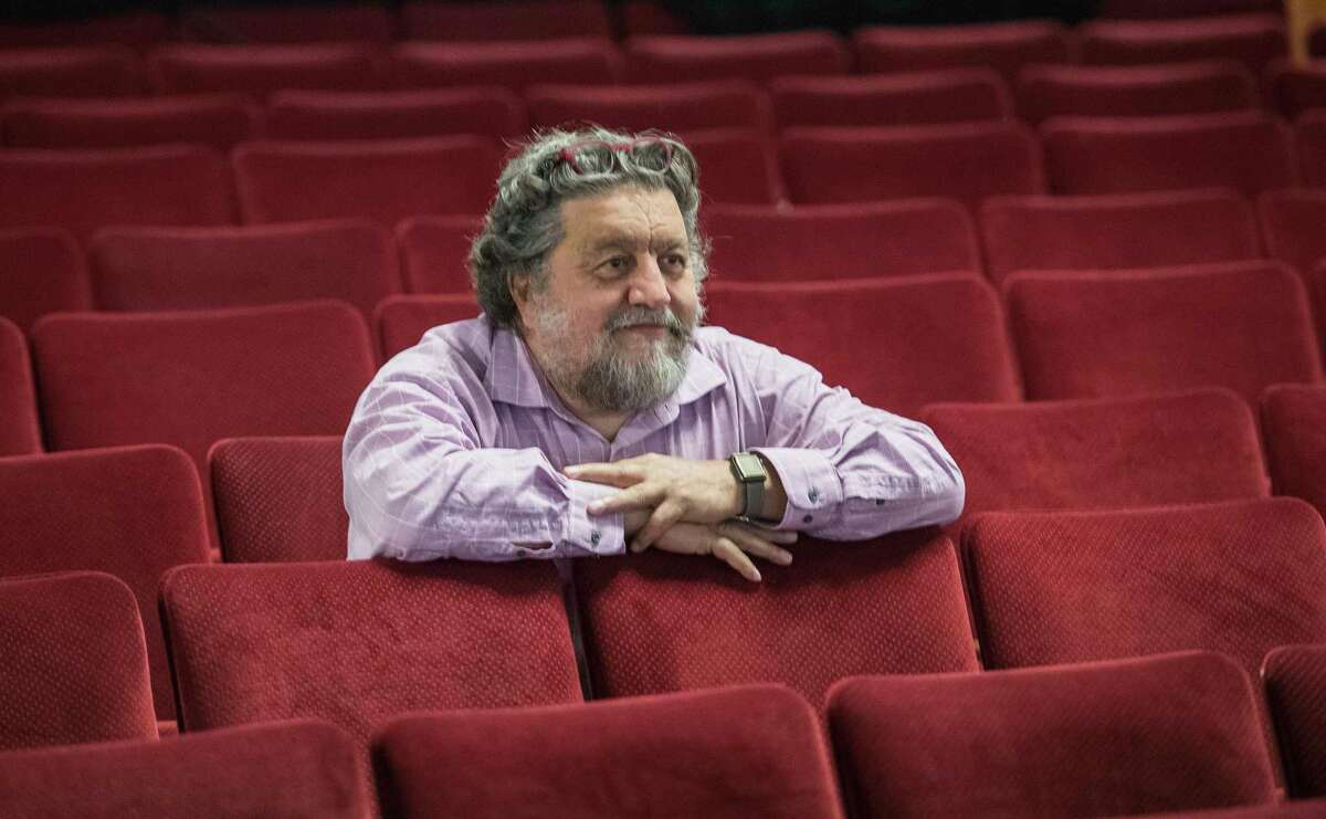Philip Morris, CEO, takes a position in the new seats at Proctor's Theatre Thursday Sept.27, 2018 in Schenectady, N.Y. (Skip Dickstein/Times Union)