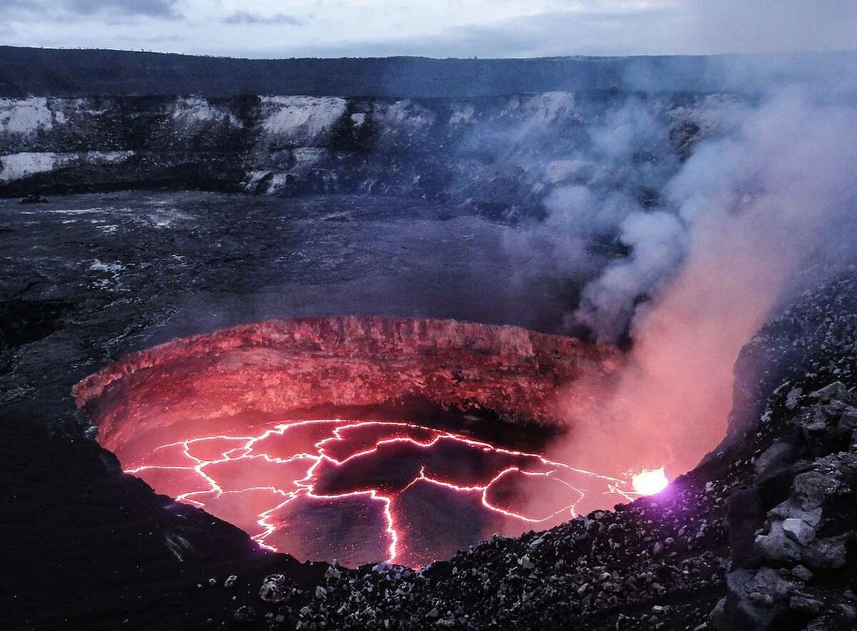 Volcanic eruptions are usually