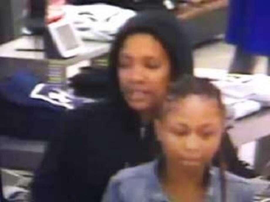Surveillance photo of shoplifting suspects Photo: Courtesy Of Hamden Police Dept.