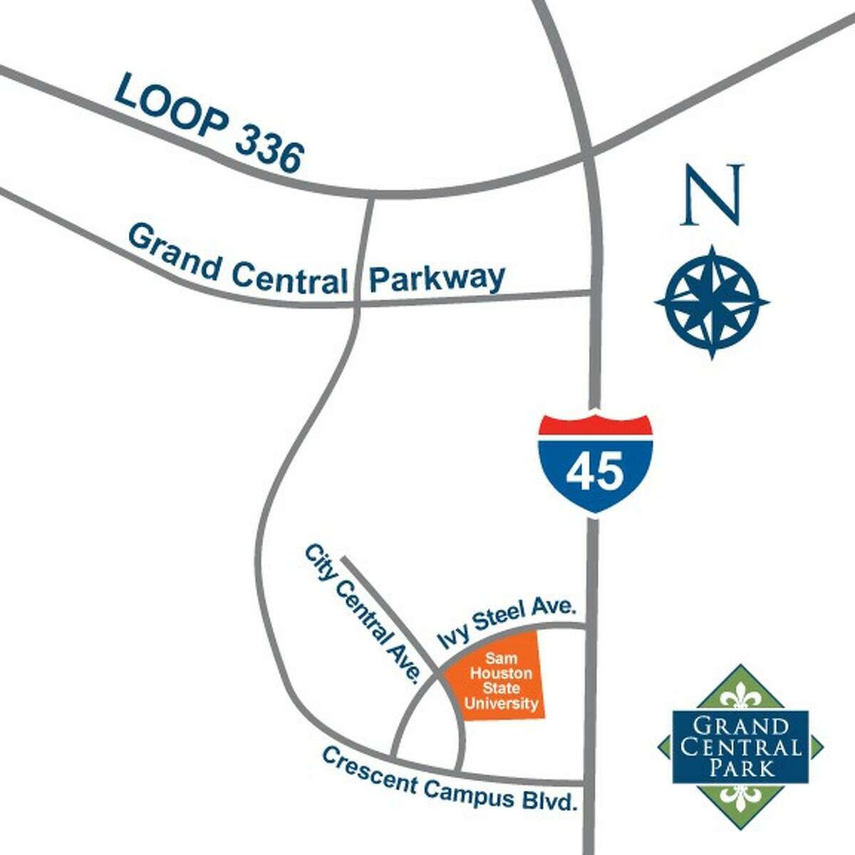 Location of Sam Houston State University's proposed College of Osteopathic Medicine in Conroe.