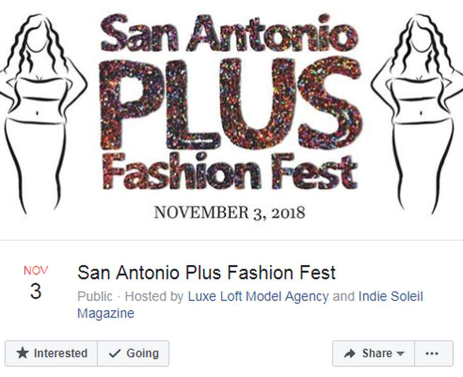 San Antonio's first-ever Plus Fashion Fest is coming in November. The Nov. 3 event will gather designers and boutiques for plus-sized women at Roszell Gardens event center, at 7561 E. Evans Road, from 2 to 9 p.m. Photo: Facebook Screengrabs