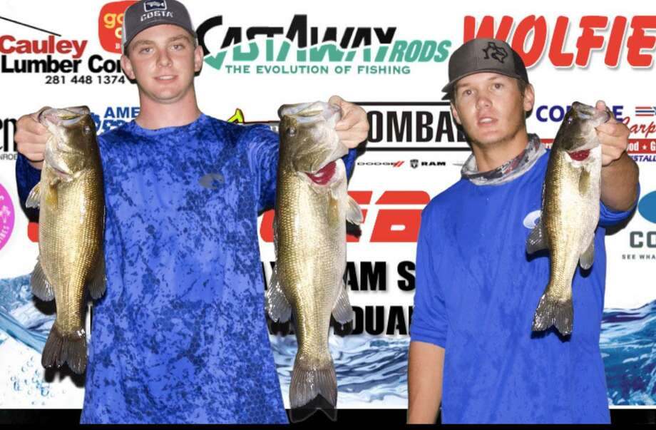 Jayce Garrison and Mason Hoke won the CONROEBASS Tuesday Tournament with a stringer total weight of 11.35 pounds. Photo: CONROEBASS