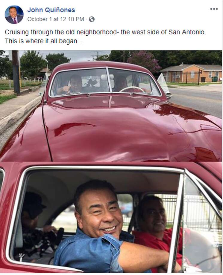 Facebook/John Quiñones: Cruising through the old neighborhood - the west side of San Antonio. This is where it all begin Photo: Facebook