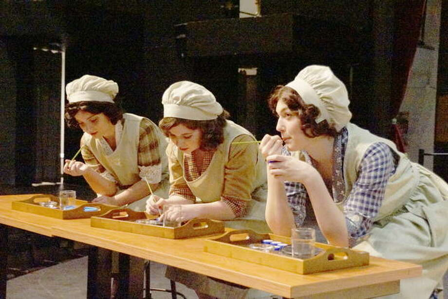 "Sadie Harvey, from left, Rhiannon Creighton and Clara Parker in Southern Illinois University Edwardsville's production of ""Radium Girls."" Photo: Valerie Goldston 