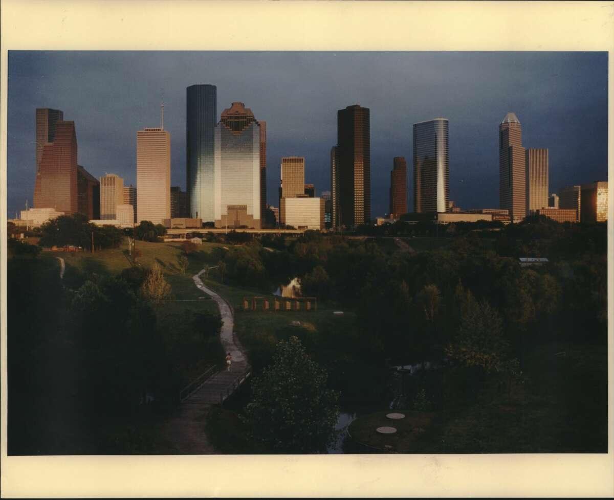 1993: The Houston, Texas downtown skyline.
