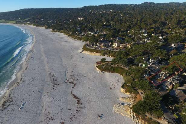 Frozen in time and full of possibility is Scenic and 13th on the beach in Carmel-by-the-Sea, asking $7.5 million.