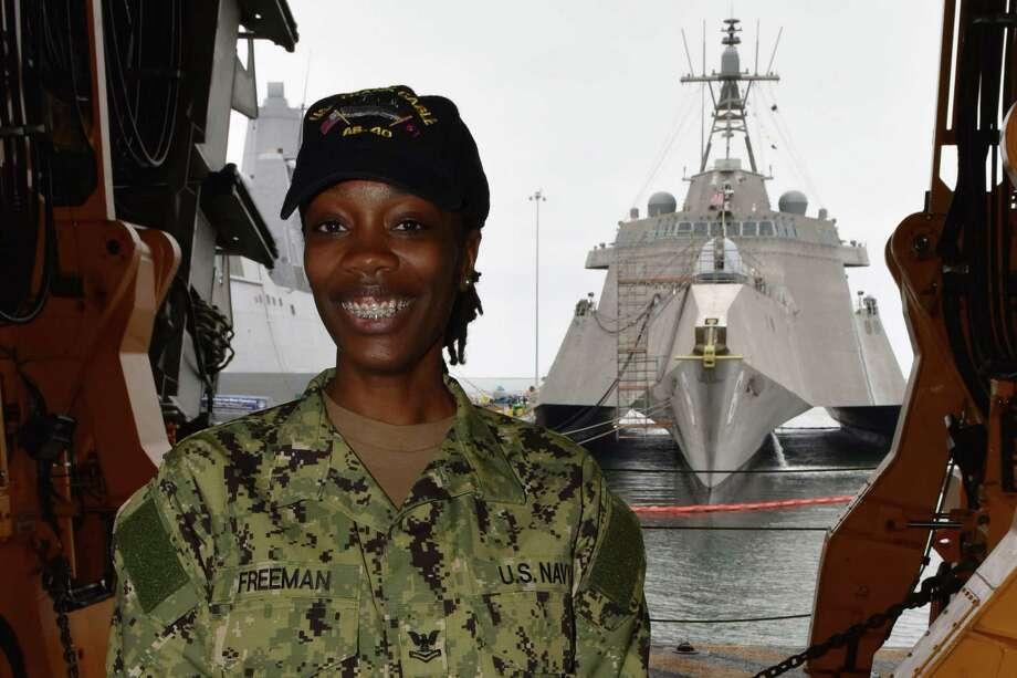 Bianca Freeman Photo: MCC Elisandro T. Diaz / U.S. Navy / Digital