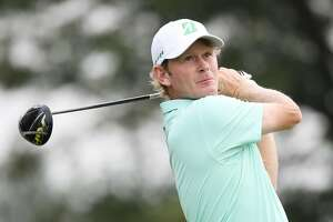 NEWTOWN SQUARE, PA - SEPTEMBER 07:  Brandt Snedeker of the United States plays his shot from the 12th tee during the second round of the BMW Championship at Aronimink Golf Club on September 7, 2018 in Newtown Square, Pennsylvania.  (Photo by Gregory Shamus/Getty Images)