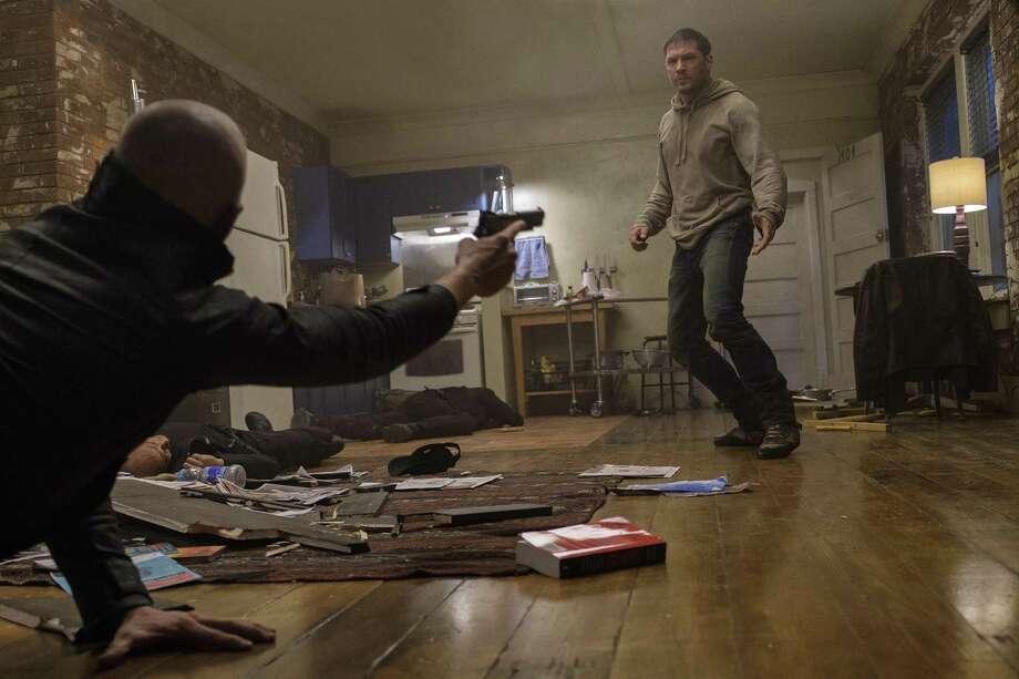 "Tom Hardy stars in the film ""Venom."" Photo: Frank Masi, HO / TNS / TNS"