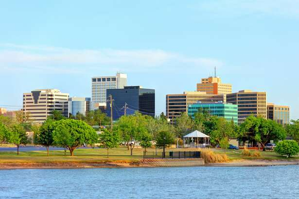 Downtown Midland is seen from Wadley-Barron Park.