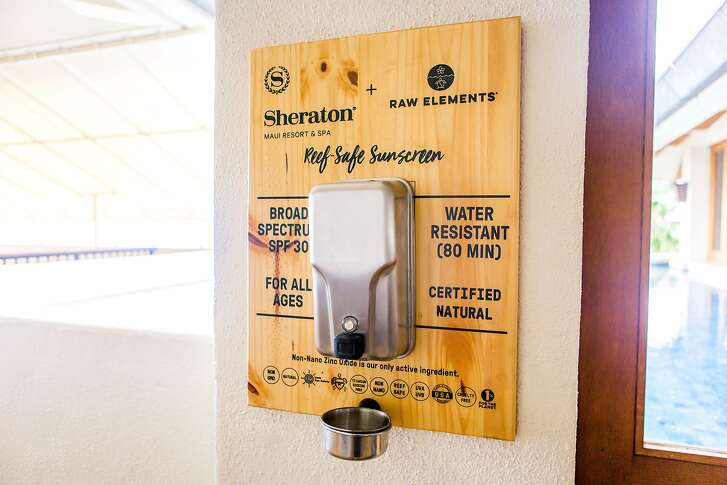 Raw Elements, a certified natural, mineral-based sunscreen company, partnered with Sheraton Maui and Aqua-Aston Hospitality hotels and resorts to provide complimentary sunscreen dispensers.