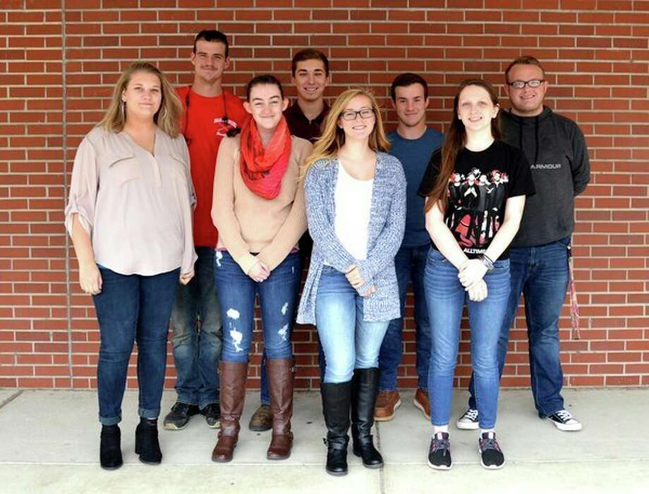 The 2018 Owendale-Gagetown king and queen candidates are (front row): Brooklyn Kain, Carlee Rievert, Megan Fritz and Jade Androl; (Back row): Brandon Binder, Matthew Fritz, Cordell Clarkson and Austin Coryell. (Submitted Photo)