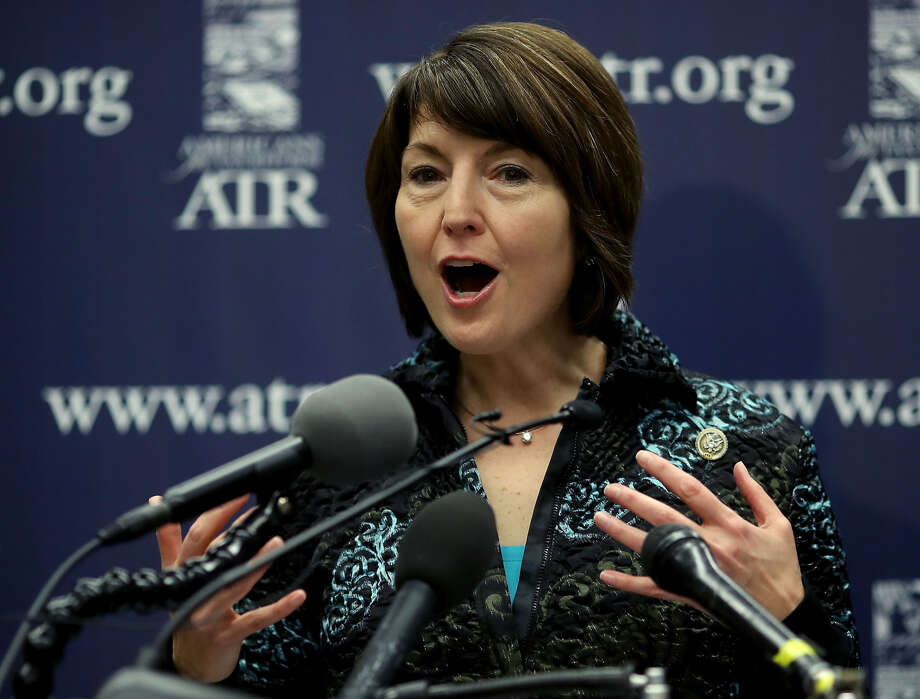 "Rep. Cathy McMorris Rodgers, R-Wash., gets word from Washington State University. Stop using our trademark phrase ""Go Cougs"" in your campaign literature. Photo: Getty Images"