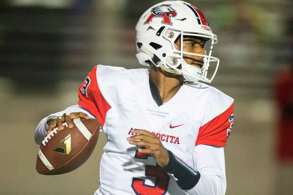 Atascocita QB Brice Matthew (3) scrambles out of the pocket during the second half of action between Kingwood vs. Atascocita during a high school football game at the George Turner Stadium, Friday, September 14, 2018, in Humble. Atascocita defeated Kingwood 27-20. (Juan DeLeon/Contributor)