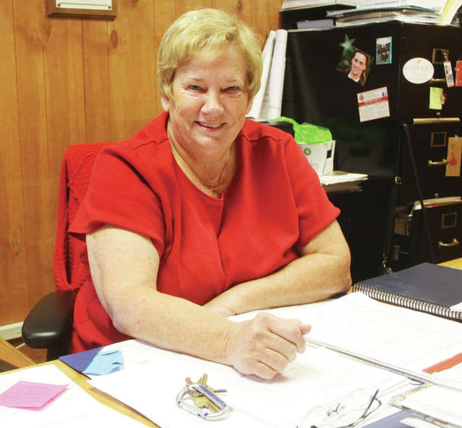 Godfrey Village Clerk Pam Whisler announced her retirement at Tuesday's Village Board meeting. She has been the village's clerk since it was incorporated in 1991. Photo: Scott Cousins | The Telegraph