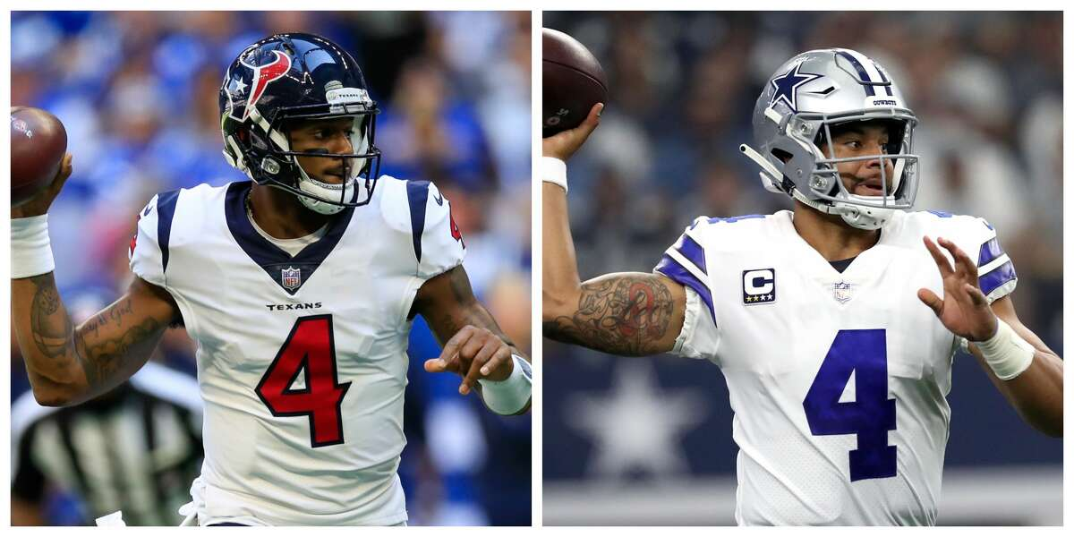 When the Texans drafted Deshaun Watson, left, in the first round last year, the former Clemson star hoped to emulate the immediate impact that Dallas Cowboys quarterback Dak Prescott.
