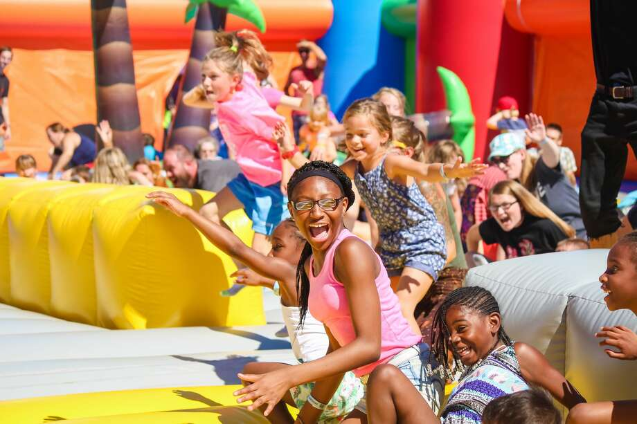 Big Bounce America, touted as the world's biggest bounce house, will set up at the Wheatley Heights Sports Complex Oct. 19-21. Photo: /Big Bounce America